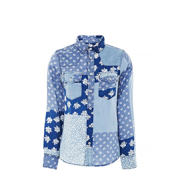 Current/Elliott Cotton Bandana-Print Shirt