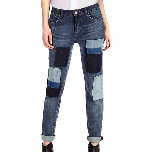 Karen Millen Patched Denim Collection Jeans