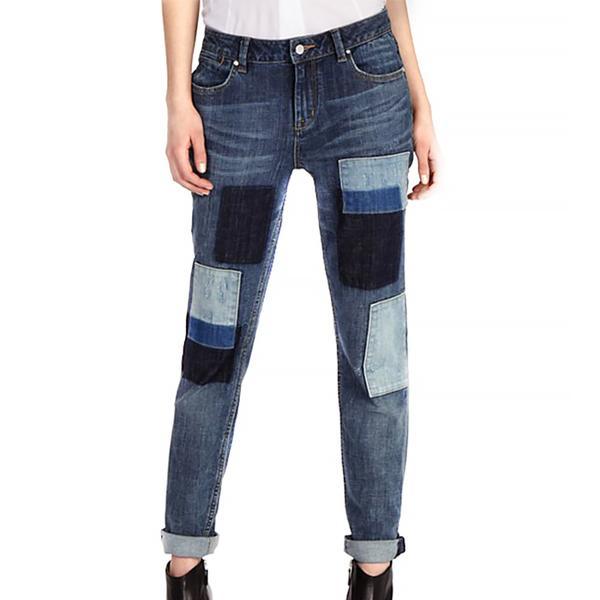 Karen Millen Patched Denim Collection Jeans