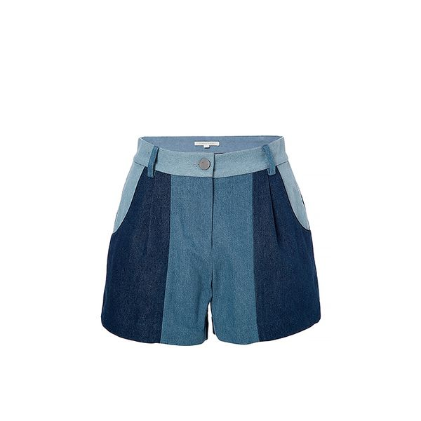 Jonathan Simkhai Patchwork Denim Shorts