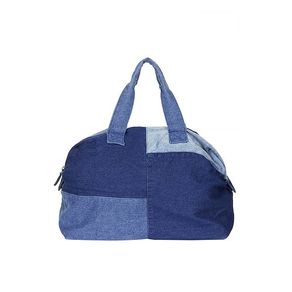 Topshop Patchwork Denim Luggage Bag
