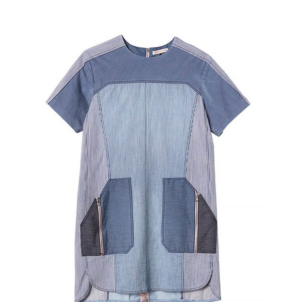 Rebecca Taylor Short Sleeved Railroad Dress