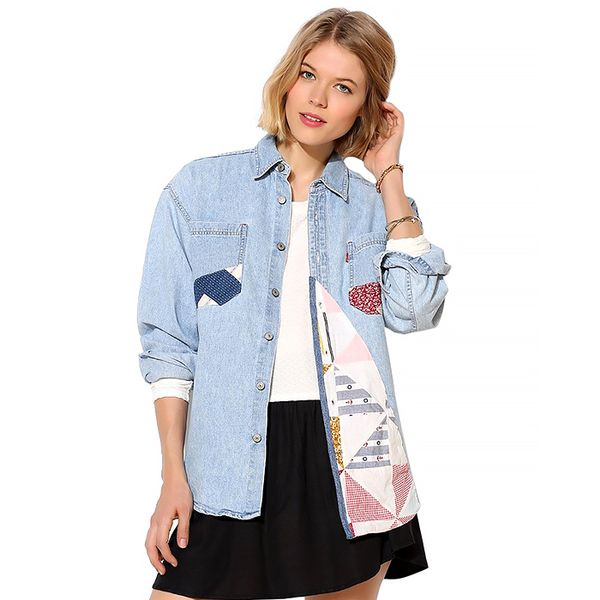 Urban Renewal Quilted Denim Shirt
