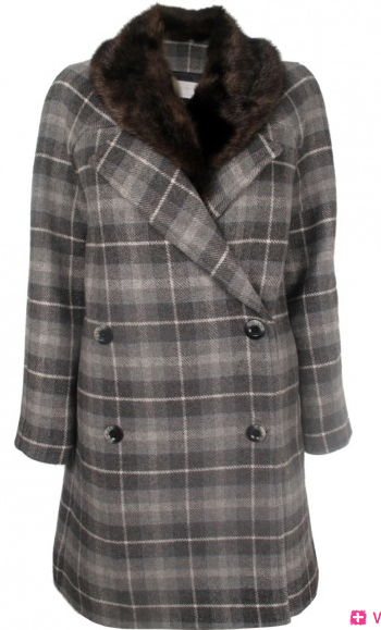 Thakoon Addition Double Breasted Plaid Coat