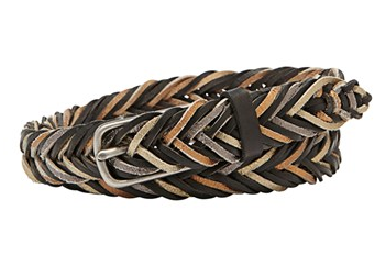 Fossil Fishtail Braided Leather Belt