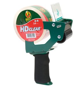 Duck HD Clear Tape Gun With Roll