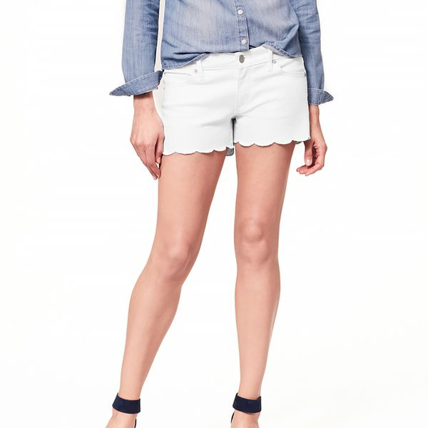LOFT Denim Scallop Shorts