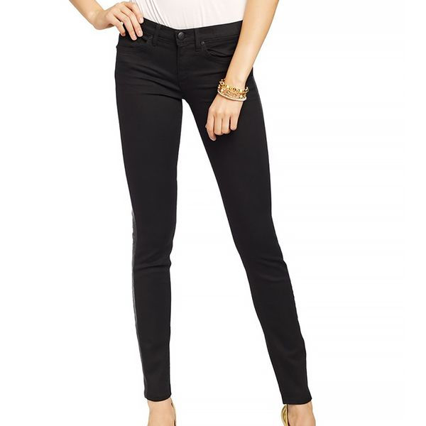 Juicy Couture Leather Inset Skinny Jean