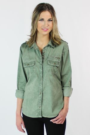 Rails Halle Antique Wash Denim Button Down Shirt
