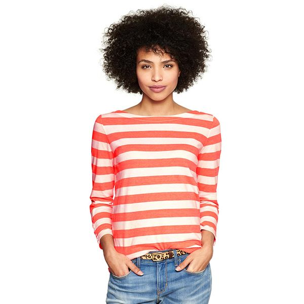 Gap Essential Stripe Boatneck Tee