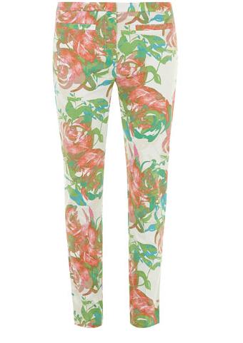 Dorothy Perkins Floral Printed Skinny Pants