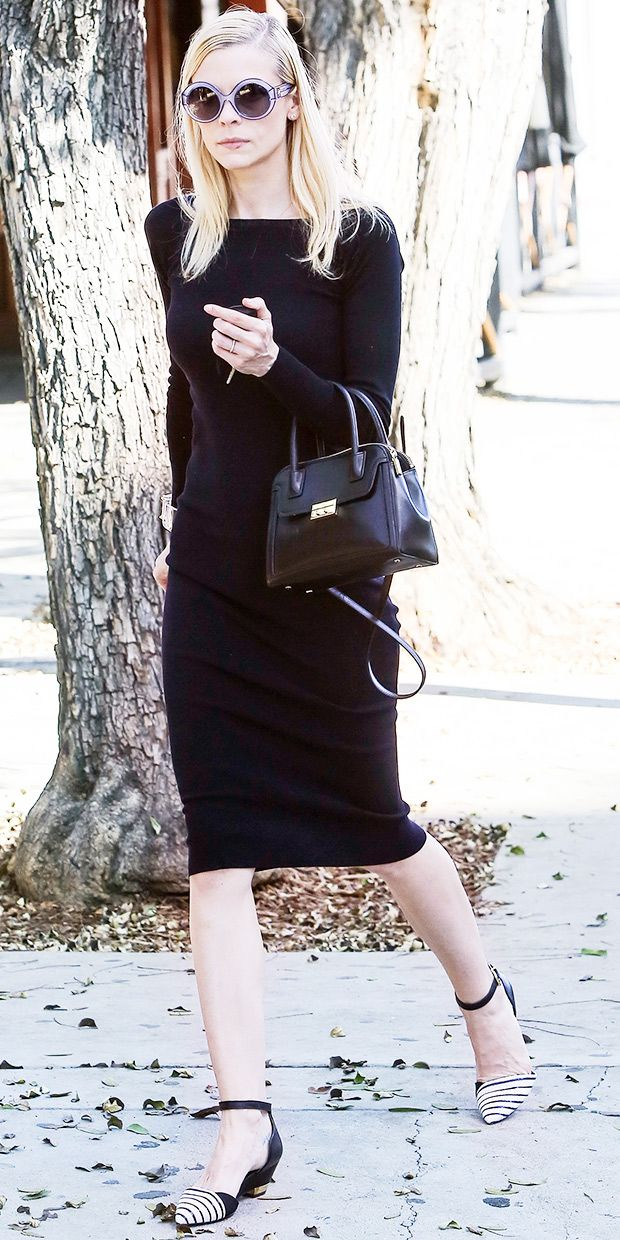Jaime King's Perfect Black Dress