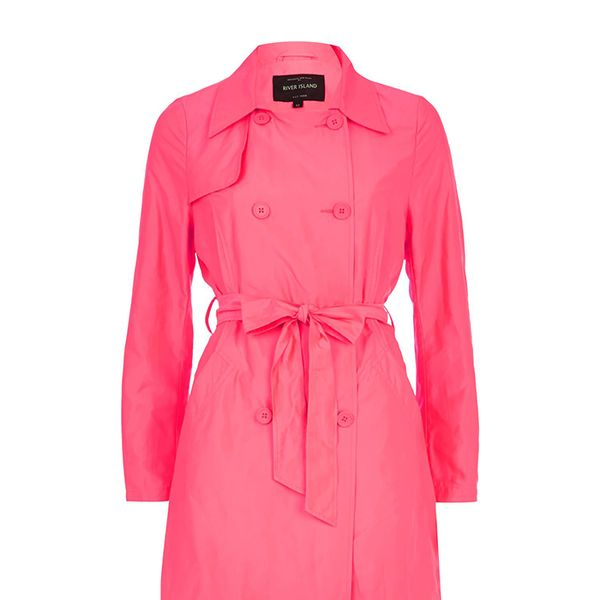River Island Pink Trench Coat