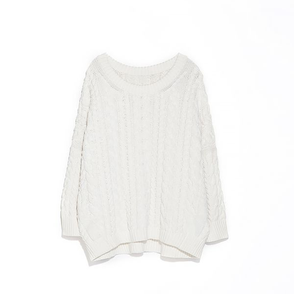 Zara Braided Square Cut Sweater
