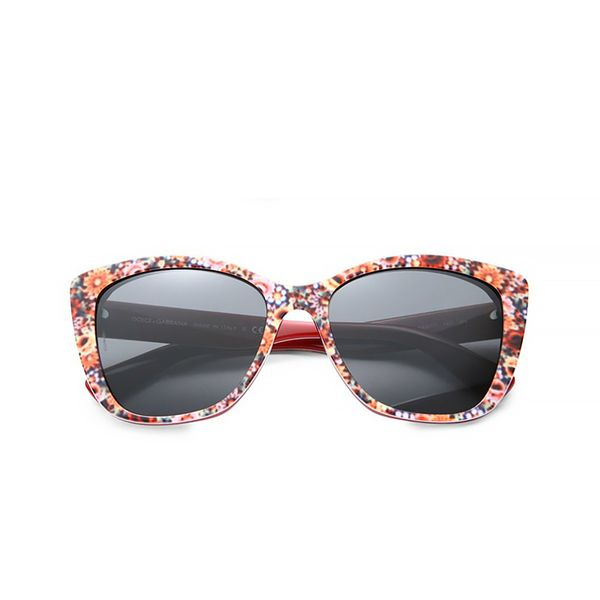 Dolce & Gabbana Floral-Printed Modified Cat's-Eye Sunglasses