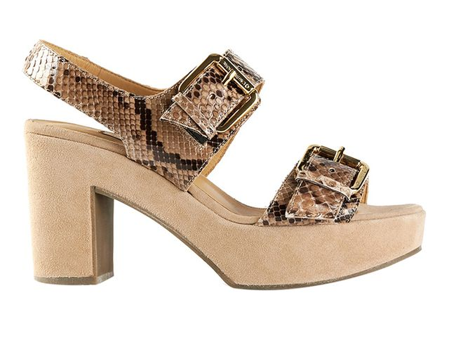 L'Autre Chose Python Textured Sandals ($438)