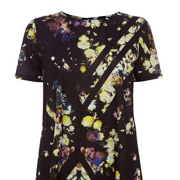 Warehouse Cutabout Floral Print Swing Dress