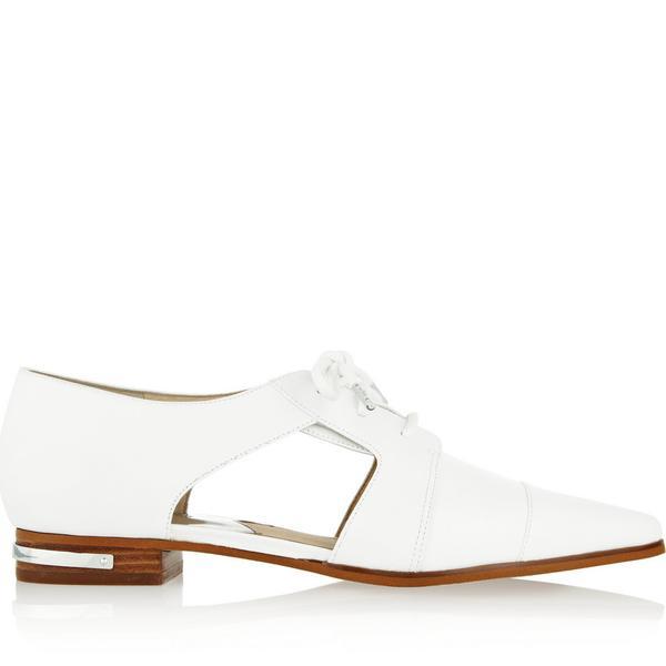 MICHAEL Michael Kors Graham Cutout Leather Oxford-Style Flats
