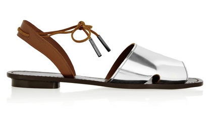 Maiyet Desert Metallic Leather Sandals