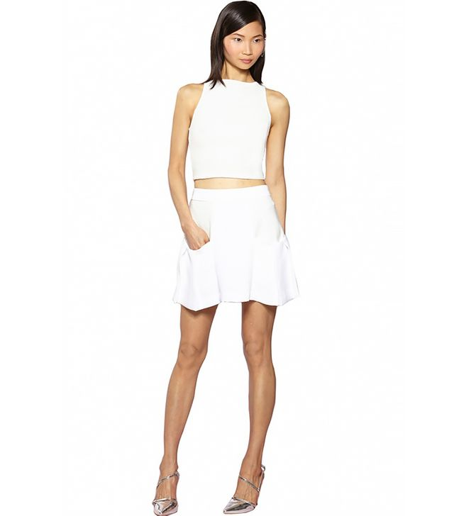 Alice + Olivia Pire Sleeveless Fitted Crop Top ($187)