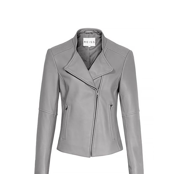 Reiss Jenn Short Collar Biker Jacket