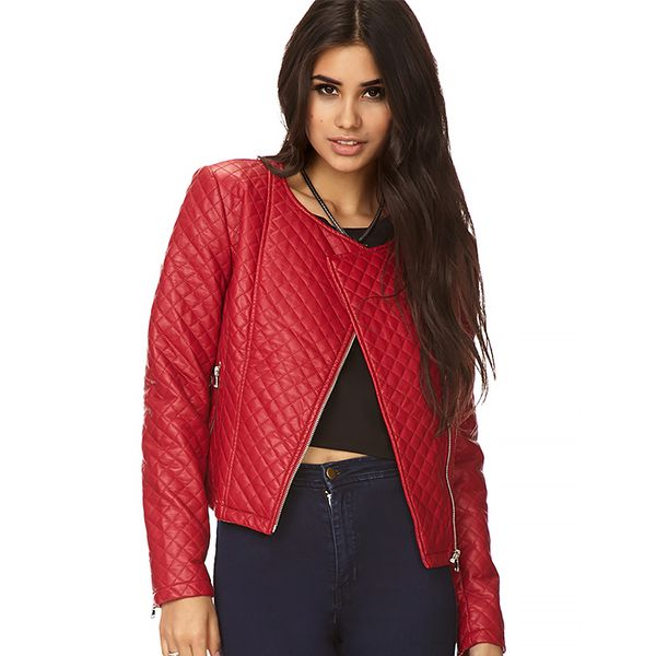 Forever 21 Bold Quilted Moto Jacket