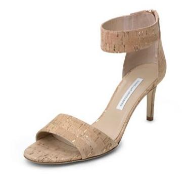 Diane von Furstenberg Kinder Cork Foil Sandal