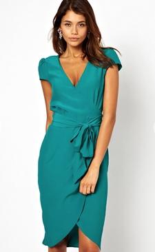 ASOS Midi Wrap Tulip Dress