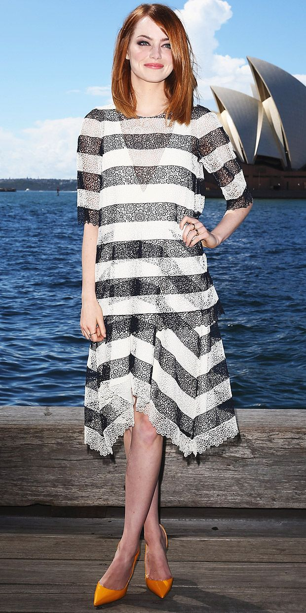 Emma Stone Wows At First Photocall for The Amazing Spiderman 2