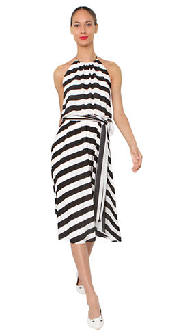 Isaac Mizrahi New York Striped Halter Dress