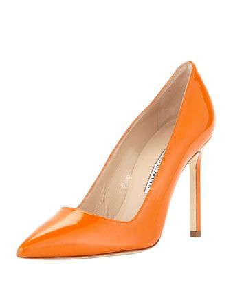 Manolo Blahnik BB Patent Point-Toe Pumps