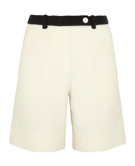 Carven Cotton-Blend Tweed Shorts