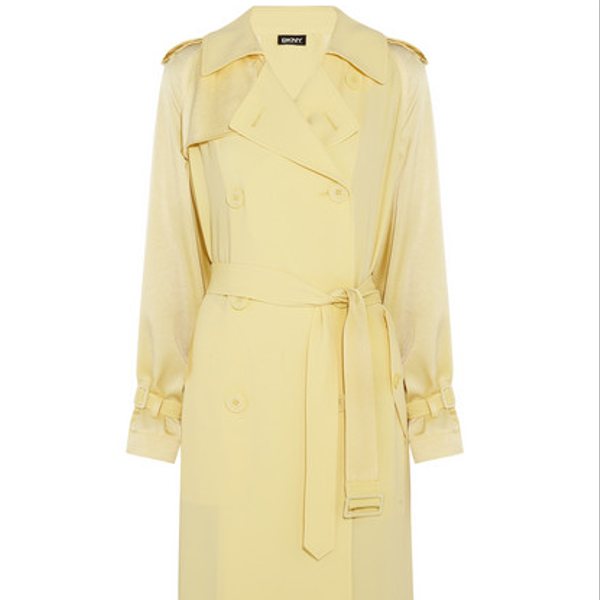 DKNY Oversized Satin-Crepe Trench Coat