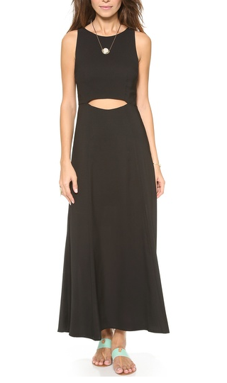 Mara Hoffman Waist Cutout Tea Length Dress
