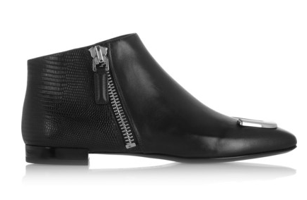 Kenzo Embellished Lizard-Effect Leather Ankle Boots