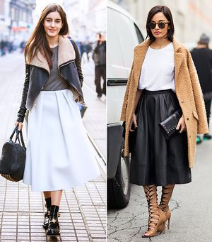 Your Weekend Uniform: Basic T-Shirt & Midi Skirt
