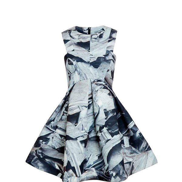 AQ/AQ Broadwalk Scrap Print Skater Mini Dress
