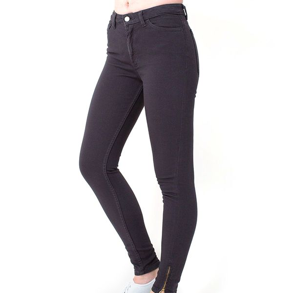 American Apparel Stretch Bull Denim Side Zip Pants