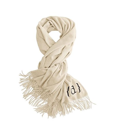 Mark and Graham Cashmere Herringbone Scarf With Fringe