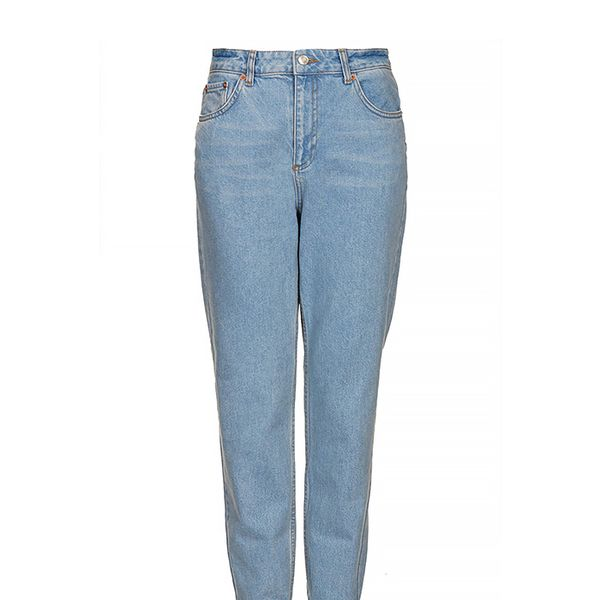 Topshop Moto Baby Blue High Waisted Jeans