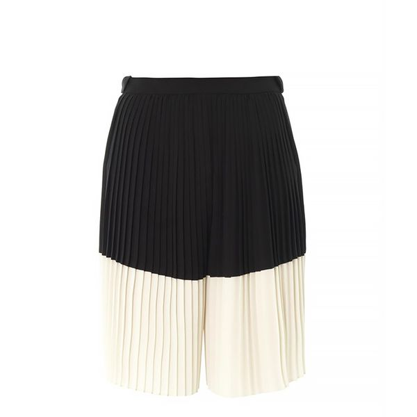 Kenzo Pleated-Front Bi-Colour Cullottes