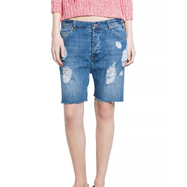 Mango Denim Bermuda Shorts
