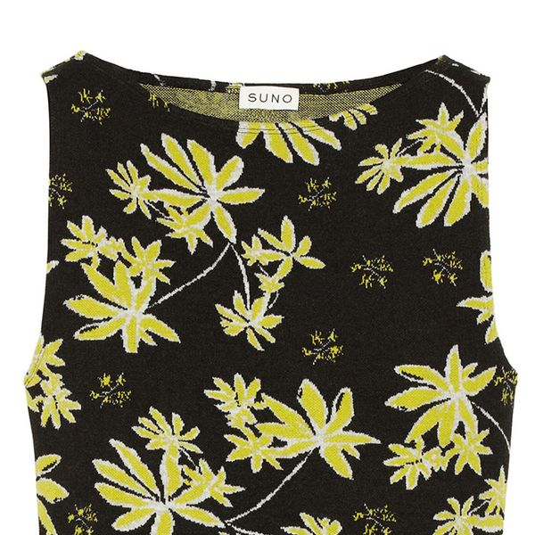 Suno Cropped Jacquard Top