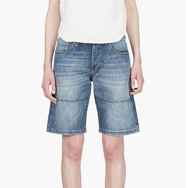 Marni Blue Denim Paneled Shorts