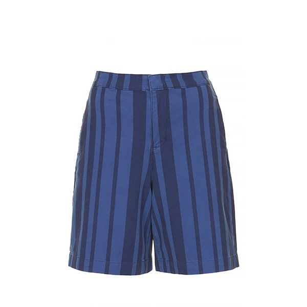 Topshop Moto Stripe Denim Culotte Shorts