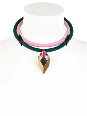 Delfina Delettrez  Infinity Gold Plated And Rubber Necklace