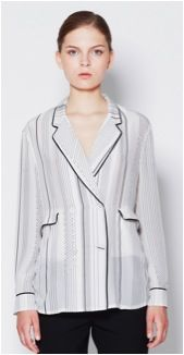 3.1 Phillip Lim  3.1 Phillip Lim Pajama Jacket with Piping