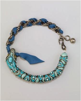 Lanvin Lanvin Enamel Snake Choker Necklace