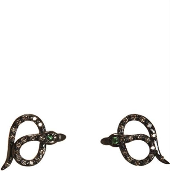 Ileana Makri Ileana Makri Pave Diamond Snake Stud Earrings