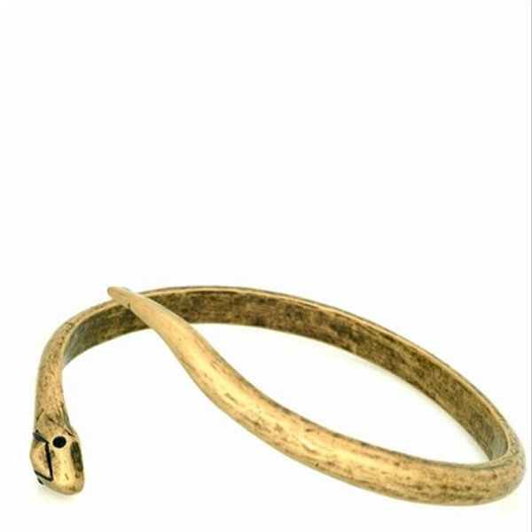 House of Harlow  House of Harlow 1960 Brass Snake Cuff With Pave Eyes